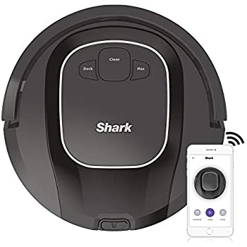 Shark ION R87, Wi-Fi Connected with Powerful Suction, Multi-Surface Brushroll and Voice Control with Alexa Robot Vacuum (RV871), 0.6 qt, Black