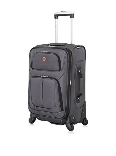 SwissGear 360 Multi-Directional Spinner Luggage Collection Ark Grey 21″ Carry-On Spinner