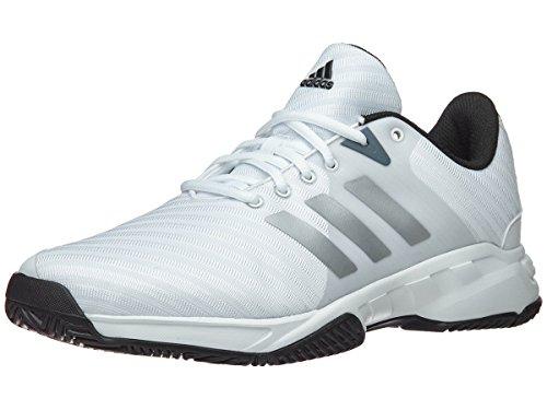 - adidas Men's Barricade Court 3 Wide Tennis Shoe, White/Matte Silver/Scarlet, 10 M US