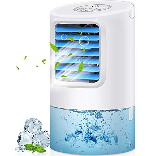 GREATSSLY Air Conditioner Fan, Portable Air cooler Small Desktop Fan 3 Degree Changeable Angle Adjustable Compact Super…