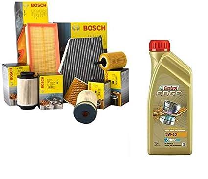 Kit Tagliando aceite motor Castrol Edge 5 W40 5lt + 4 ...