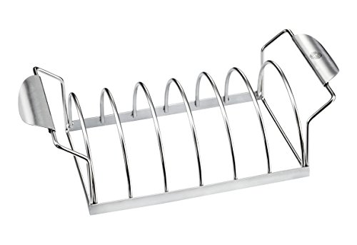 (GEFU BBQ Premium Barbecue Spare Rib Rack, Holds 6 Portions, Works in Kettle Ovens and Grills)