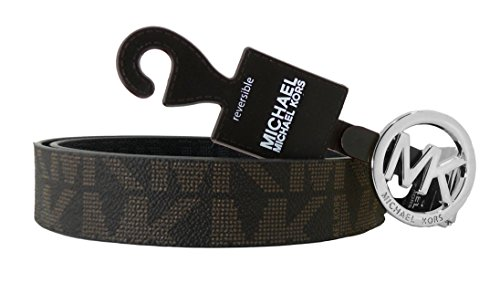MICHAEL Michael Kors Belt with MK Logo Plaque