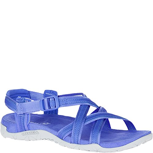 (Merrell Women's Terran Ari Lattice Sport Sandal, Baja Blue, 5 Medium US)
