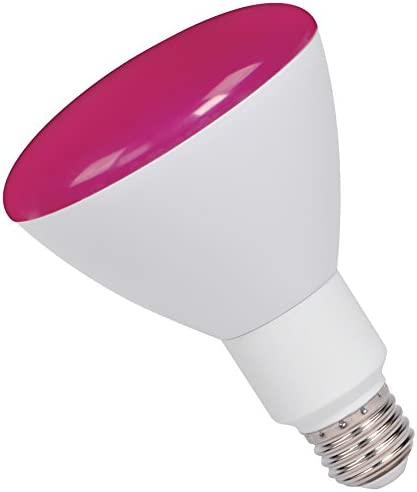 BR30FL9//PNK//LED BR30 9W Pink Dimmable E26 Flood ProLED Light Bulb Pack of 6 Halco 80166