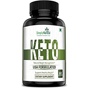 Simply Herbal Keto Capsules for Weight Loss Natural & Advanced Fat Burner Supplement 800 MG, 60 Capsules, Green Tea Extract,Green Coffee Extract and Garcinia Cambogia Extract (1)