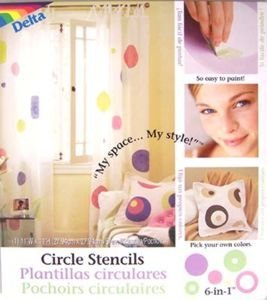 Delta Polka Dot Circle Wall Stencils for Polka Dot Theme Kids Room Wall - Dot Mural Polka