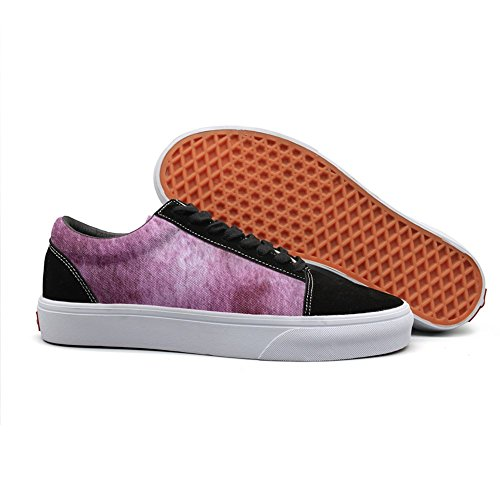 Print trendy watercolor splash shading Chinese style ink Low Top canvas ()