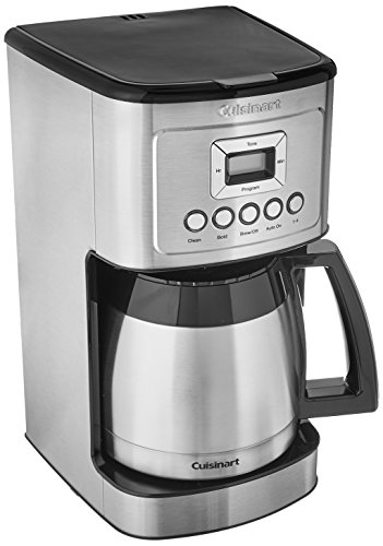 Cuisinart DCC-3400 Stainless Steel Thermal Coffeemaker, 12 Cup Carafe 8 Cup Programmable Thermal