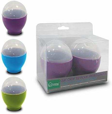 Urban living-Cuece huevo para microondas x2 unidades (Lila ...