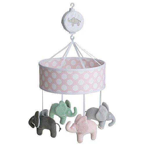 Rätt Start Elephant Design Musical Bed Mobile Baby Toy, Pink Rätt Start AB 7902