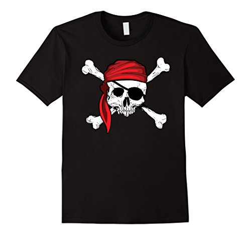 Mens Jolly Roger Pirate Shirt - Pirates Shirts for any occasion XL Black