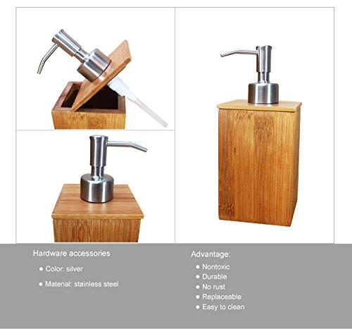 Sansnow Bamboo Bathroom Accessory ...