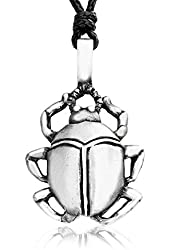 """Dan's Jewelers """"Creatures Of The Earth"""" Egyptian Scarab Beetle Necklace Pendant, Fine Pewter Jewelry"""