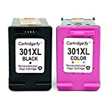Cartridgeify Remanufactured HP 301 XL Ink Cartridges Combo Pack, Compatible for HP DeskJet 1050a 1510 2050 2510 2540, OfficeJet 2620 4630, Envy 4500 4502 5530 (Black + Tri-Colour) Pack of 2