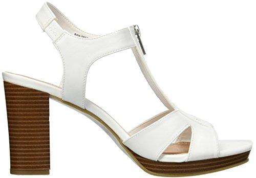 Toe Heel Smooth Women's Sandal Peep Heeled Rampage Platform Preeta White nWtxqT7z