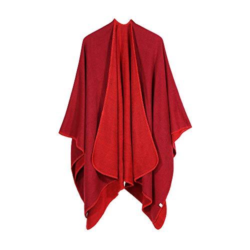 Manteau Élégant Manches Vêtements Châle Cardigans Femmes Double Solide Longue Tricoté Poncho Fille Automne Overmal Usage Vendeur Rouge Chandail Mode D'extérieur Les 2018 Outwear Eqwvdg