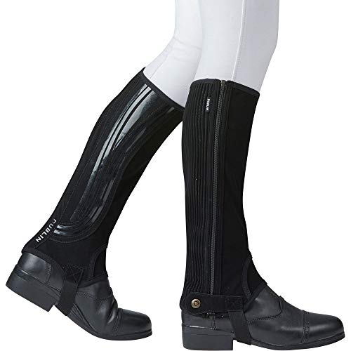 Dublin Mens Easy-Care Wave Grip Half Chaps (Adults Xsmall) (Black) ()