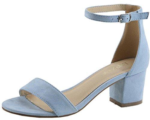 Light Blue Block (Bella Marie Women's Strappy Open Toe Block Heel Sandal (8 B(M) US, Light Blue IMSU))