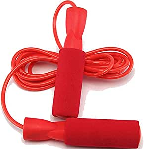 حبل القفز للتزلج من 2.7M بأوزان مع دبوس كروية وحبل قفز الملاكمة أحمر