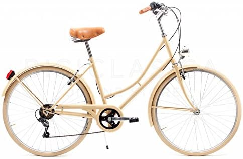 Capri Bicicleta Urbana Valentina Camel 6 Velocidades: Amazon.es ...