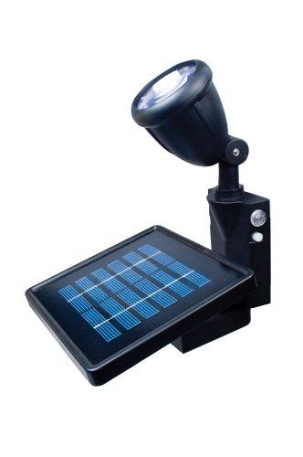 MAXSA Innovations 40334 Black Directionally Focused Solar LED Flag Light with Hardware for Flag Poles, Office Central