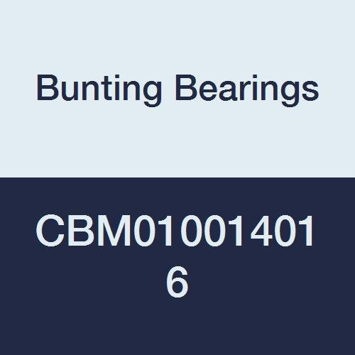 Bunting Bearings CBM010014016 Sleeve (Plain) Bearings, Cast Bronze C93200 (SAE 660), 10 mm Bore x 14 mm OD x 16 mm Length (Pack of 5) ()