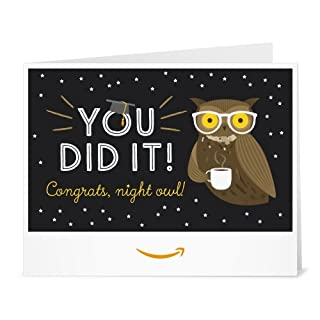 Amazon Gift Card - Print - Graduation Owl (B01DOPQGTG) | Amazon price tracker / tracking, Amazon price history charts, Amazon price watches, Amazon price drop alerts