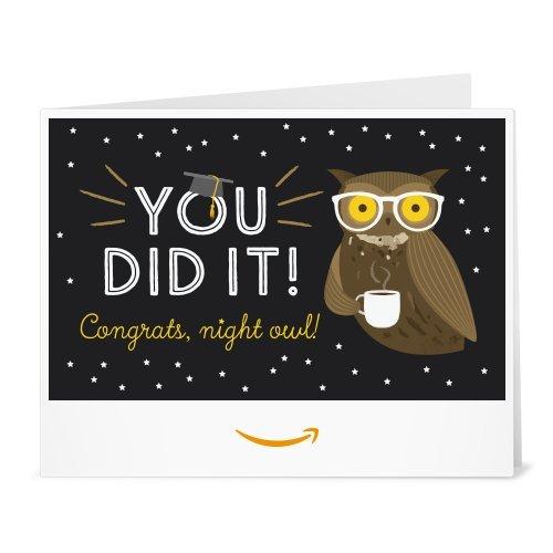 Amazon Gift Card - Print - Graduation Owl ()