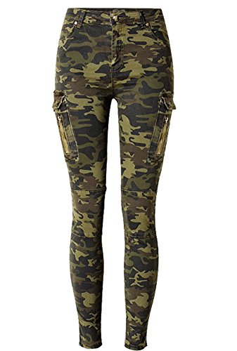 Camo Pants For Women Olive Army Green (Youth Camouflage 6 Pocket Pants)