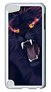 Brian114 Case, iPod Touch 5 Case, iPod Touch 5th Case Cover, Angry Lion Retro Protective Hard PC Back Case for iPod Touch 5 ( white )