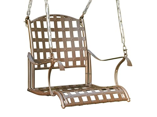 International Caravan Santa Fe Iron Patio Swing in Matte Brown For Sale