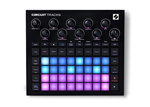 Novation Circuit Tracks: Groovebox independiente con sintetizadores, batería y secuenciador