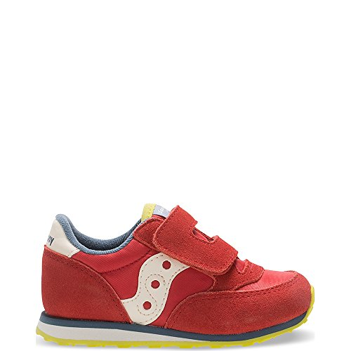 Saucony Jazz Hook & Loop Sneaker (Toddler/Little Kid), Red/Blue/Lime, 7.5 M US Toddler