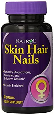 Natrol Skin, Hair, and Nails for Women Capsules, 60-Count