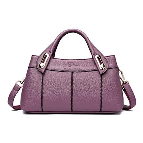 Bolsas Mujeres De Bolsos Pu Mano Purple Mensajero cm Bolso Las Cuero Cruzados 30x12x16 La Black Del nqpqwRvaxH