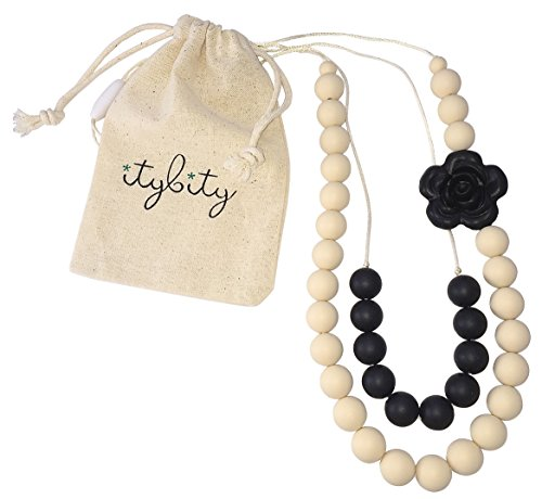 Baby Teething Necklace for Mom, Silicone Teething Beads,...