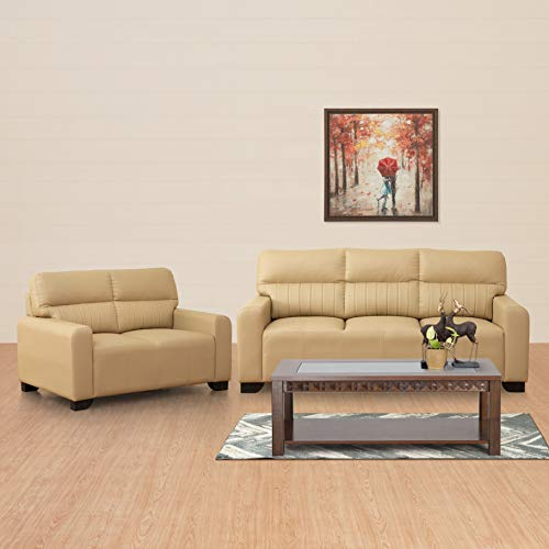 Home Centre Leatherette Albury 3+2 Sofa Set   Beige