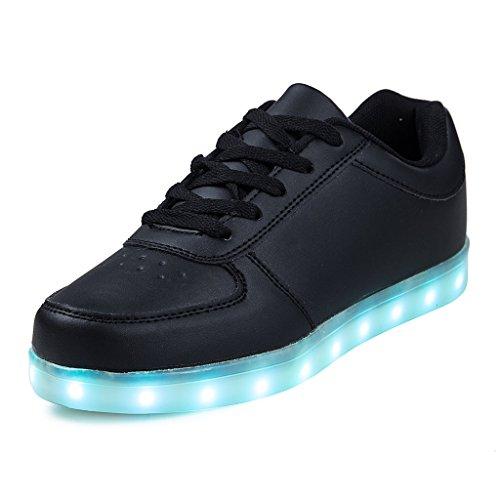 best cheap f5046 72abc Jungen Mädchen LED Leuchtende Schuhe USB Aufladen Blinken Sportschuhe 7  Farbe Farbwechsel Lichter Turnschuhe Sneaker Herren Damen