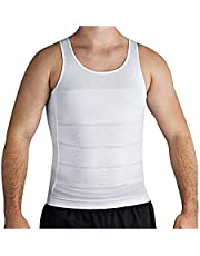 Roc Bodywear Men's Slimming Body Shaper Compression Shirt Slim Fit Undershirt Shapewear Mens Shirts Undershirts