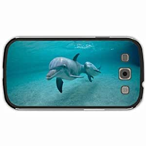 New Style Customized Back Cover Case For Samsung Galaxy S3 Hardshell Case, Black Back Cover Design Dolphin Personalized Unique Case For Samsung S3