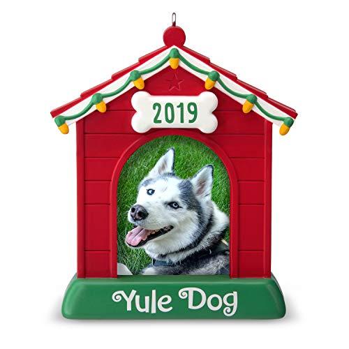 Hallmark Keepsake Christmas Ornament 2019 Year Dated Yule Dog House Photo Frame