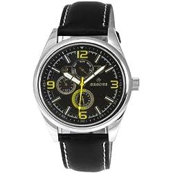 Sinobi By Lavaro Men's Quartz Wrist Watch SS0048G-2 with Leather Strap