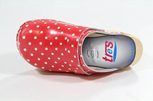 Tres schwedenclogs modèle pour enfant rouge à pois