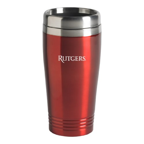 Rutgers University - 16-ounce Travel Mug Tumbler - Red