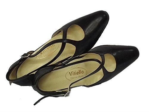 Vitiello Dance Shoes Cuccarini nero 50R - Zapatillas de danza de Piel para mujer Negro negro negro