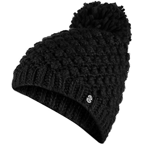 Spyder Women's Brrr Berry Hat, Black, One Size (Snowboarding Spyder Jackets)