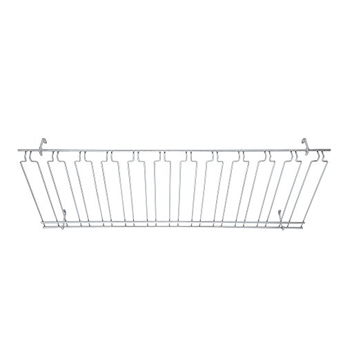 Winco GHC-1848, 18x48x4-Inch Overhead Glass Rack, 11 Channels Chrome Plated Bar Glass Holder, Stemware Rack by Winco