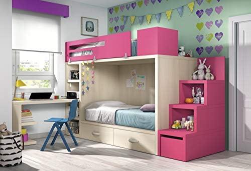 Hochbett Kinderzimmer Vita 48 Schreibtisch Platz sparend ...