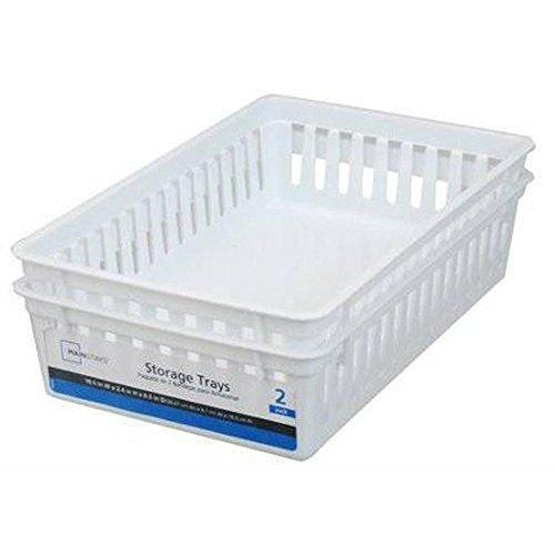 Basic White Storage Trays (6, Rectangle)